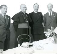 Mikołaj Wasilewski, Archbishop Tweedy, Fr Bolesław Godlewski and Piotr Połacik in 1950