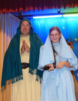 Josephine and Maciek as Mary and Joseph
