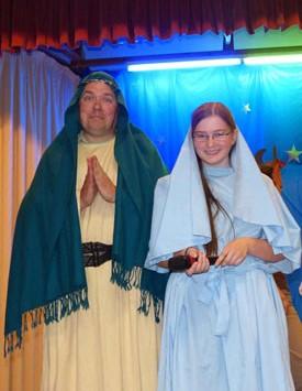 Josephine and Maciek as Mary and Joseph